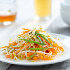 Bean sprout and carrot salad