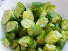 Crushed cucumber salad recipe