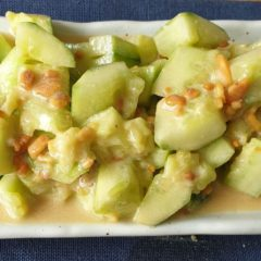 crushed cucumber salad with peanut butter