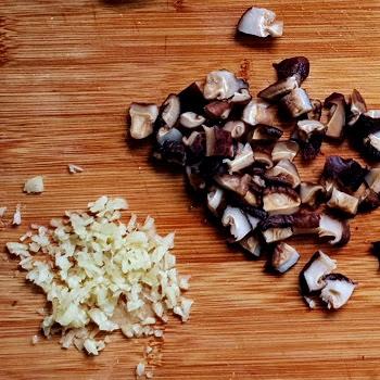 Chopped Shiitake mushrooms