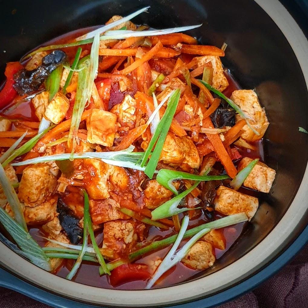 tofu stew in tomato sauce