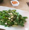 Smashed tofu and green bean stir-fry