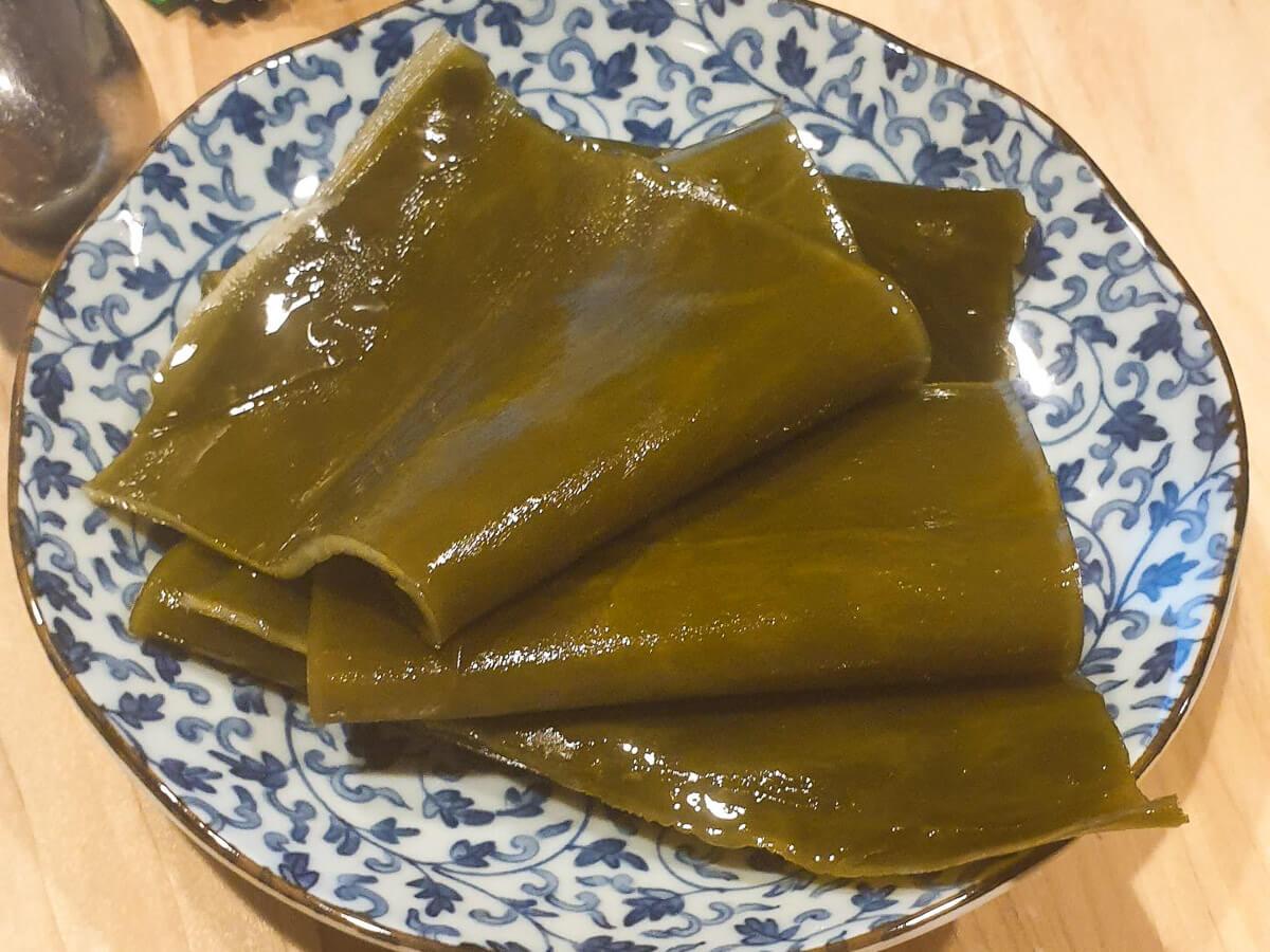 Rehydrated Kombu Kelp (seaweed))