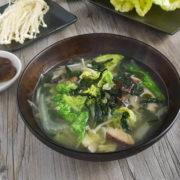 A bowl of mix mushroom soups