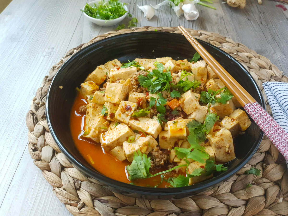 Stewed tofu with miso