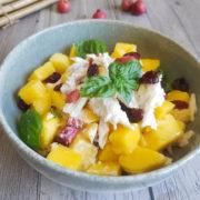 Mango and chicken salad with yoghurt dressing