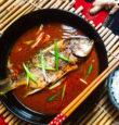 Whole fish with Szechuan bean paste